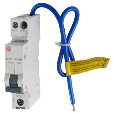 Wylex 16A 30mA Single Pole RCBO - Type B)