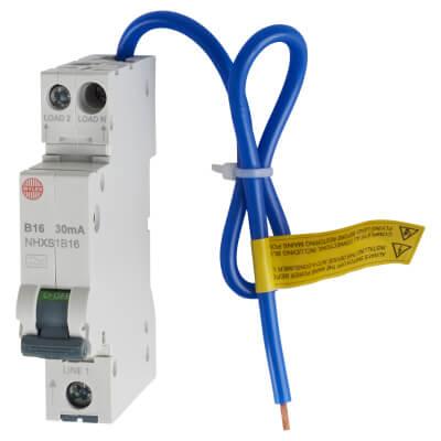 Wylex 16A Single Pole NH RCBO - Type B