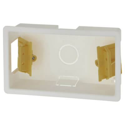 Appleby 2 Gang Dry Line Box - 35mm - White)