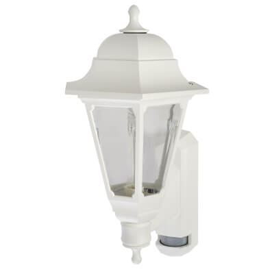 ASD Lighting Coach Lantern with PIR - White)