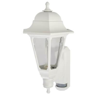 ASD Lighting Coach Lantern with PIR - White)