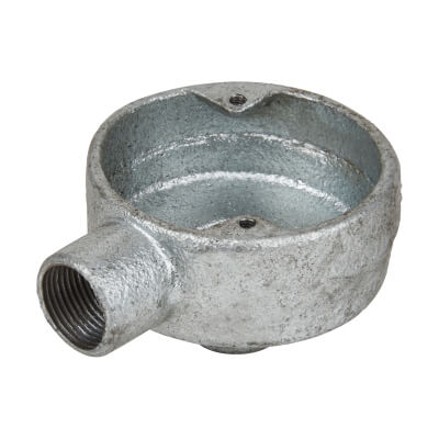 Steel Conduit Terminal Back Outlet - 20mm - Galvanised)