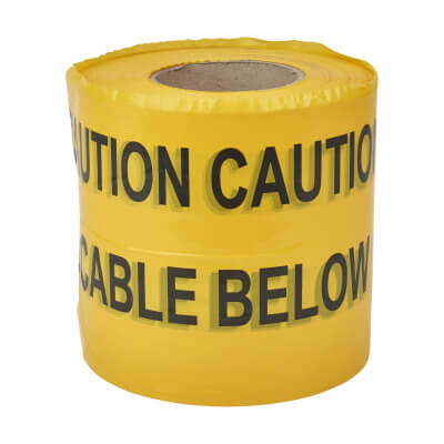 Warning Tape - Warning Below - 150mm x 365m