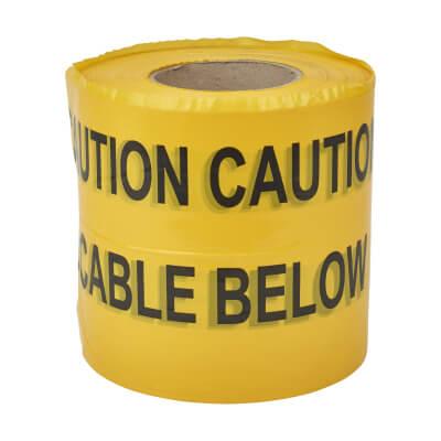 Warning Tape - Warning Below - 150mm x 365m)