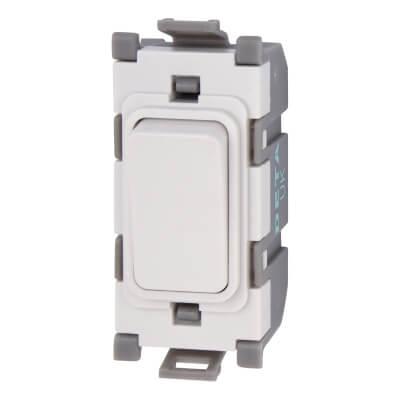 Deta 20A Double Pole Switch Module - Blank - White)
