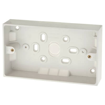 BG 2 Gang Surface Pattress Box - 32mm - White)