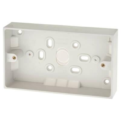 BG 2 Gang Surface Pattress Box - 32mm - White)