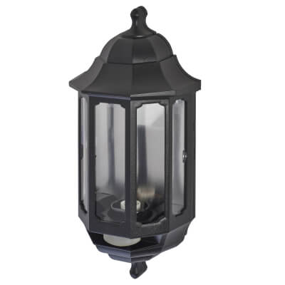 ASD Lighting Half Coach Light with PIR - Black)