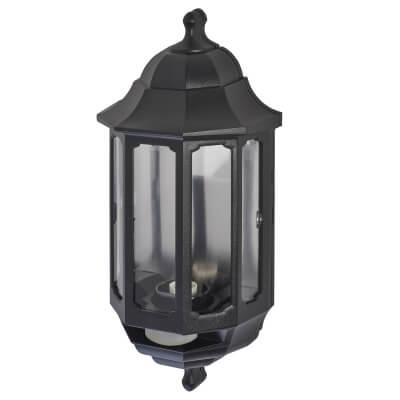 ASD Lighting Half Coach Light with PIR - Black)