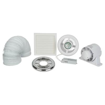 Deta 4 Inch Low Voltage Shower Fan Light Kit)