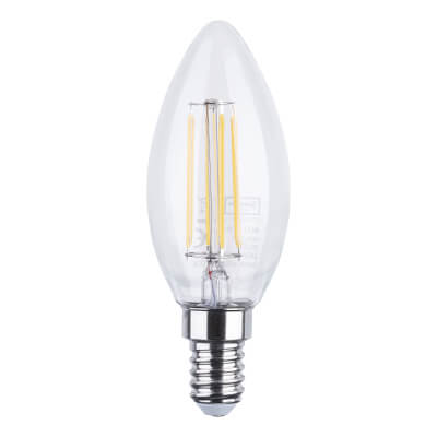 4W SES LED Filament Candle Lamp - Warm White)