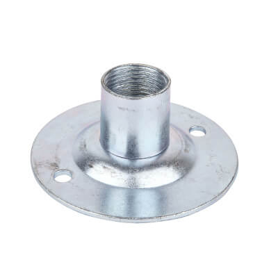Steel Conduit Dome Cover - 20mm - Galvanised)