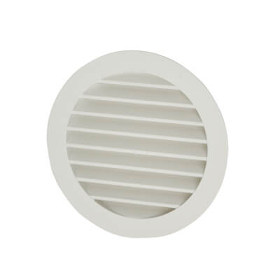 4 Inch Soffit Grill - White)
