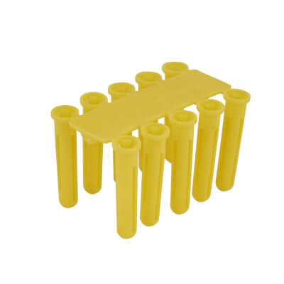 Tri Wall Plugs - 18mm - Yellow - Pack 100)