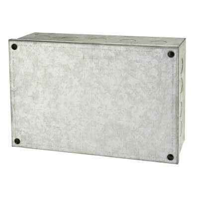 Adaptable Back Box with Knockouts - 79mm - Galvanised)
