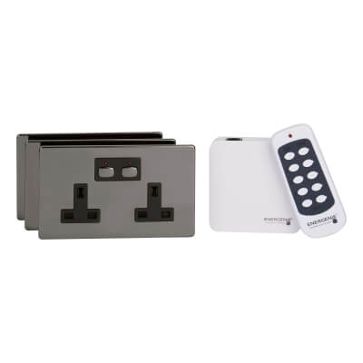 MiHome Socket Bundle - Black Nickel