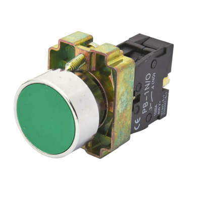 Lewden Push Button - Green