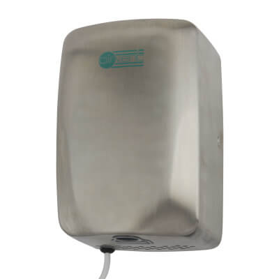 Airvent 1.1kW Compact Eco Hand Dryer - Stainless Steel)