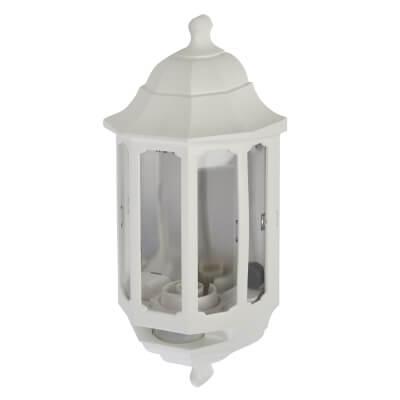 ASD Lighting Half Coach Light with PIR - White)