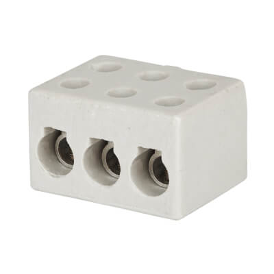 Greenbrook 30A 3 Pole Porcelain Connector