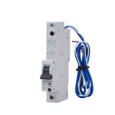 MK Sentry 10A 30mA Single Pole RCBO - Type B)
