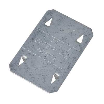 Metal Safety Plate - 51  x  76mm)