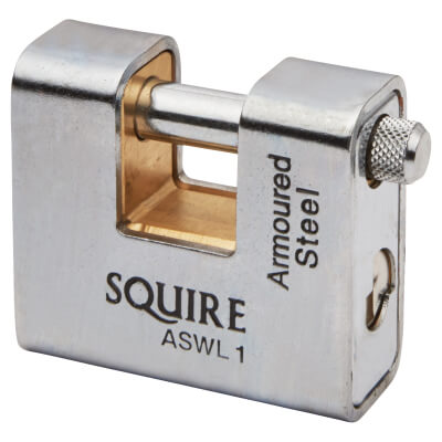 Squire Armoured Steel Shutter Lock - 60mm - Keyed To Differ)