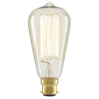 6W LED Vintage Lamp - BC - Clear)