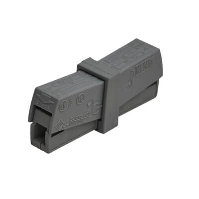 Wago 2 Conductor Through Connector - Grey - Pack 10)