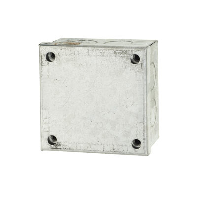 Adaptable Back Box with Knockouts - 41mm - Galvanised)