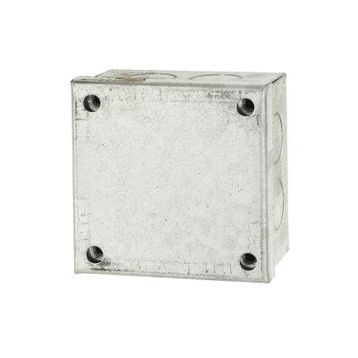 Adaptable Back Box - 3 x 3 x 1.5 Inch - Galvanised