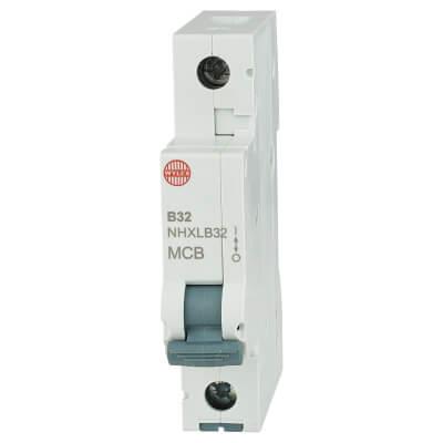 Wylex 32A NH Single Pole MCB - Type B)