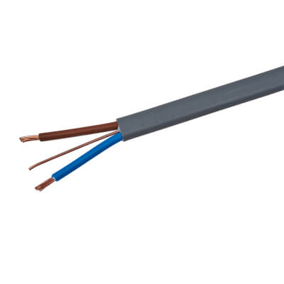 6242Y Twin and Earth Cable - 1mm² x 50m - Grey