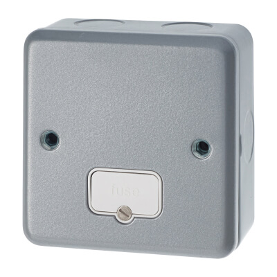 MK 13A 1 Gang Metalclad Unswitched Fused Connection Unit - Grey)