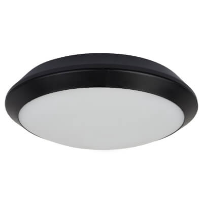 Integral LED 15W Tough Shell Plus Bulkhead Light with Emergency Function - IP66 - Black)