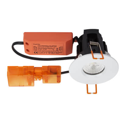 Daxlite 10W Fixed Fire Rated Downlight - Dimmable - IP65 - Warm White)
