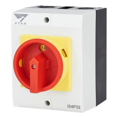 32A 4 Pole Isolator Waterproof - IP65)