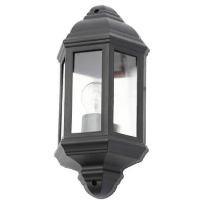 Forum Athena Wall Lantern - Black)