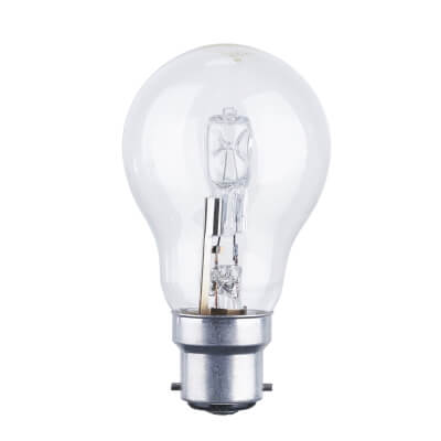 42W BC GLS Halogen Lamp - Dimmable - Clear)