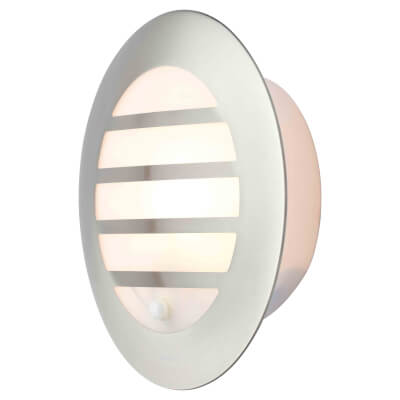Stanley Round Bulkhead Light with PIR - Stainless Steel)