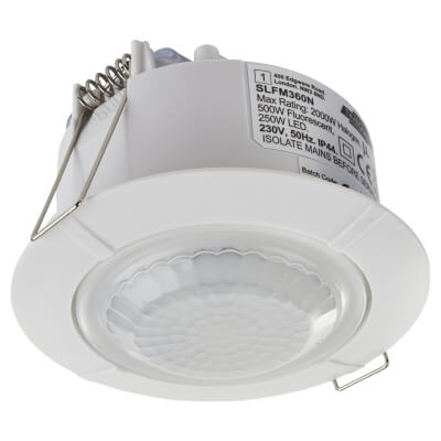 Timeguard Flush Mounted 360° PIR Sensor - White)