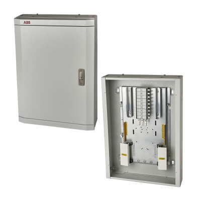 ABB 4 Way 3 Phase TPN Distribution Board)