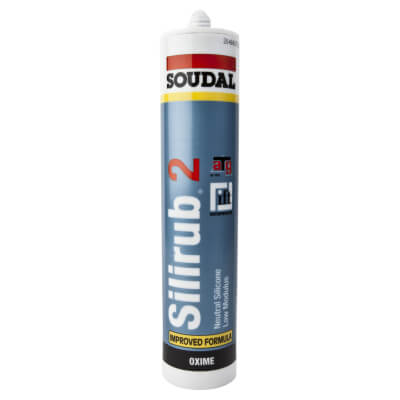 Soudal Silirub 2 Neutral Silicone - 300ml - White)