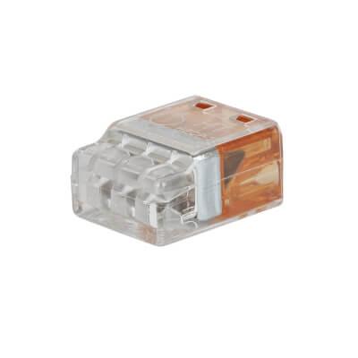 Hellermann 3 Way Push In Connector - Orange)
