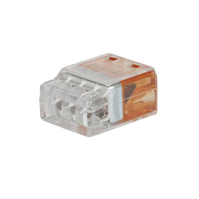 Hellermann 3 Way Push In Connector - Orange)