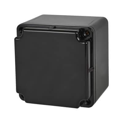Marshall Tufflex IP66 75mm PVC Adaptable Box - Black)
