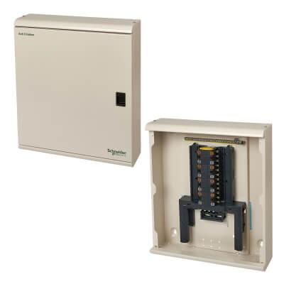 Schneider 250A 4 Way 1-3 Phase Distribution Board - Metal Clad)
