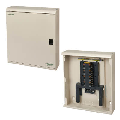 Schneider 250A 4 Way 1-3 Phase Distribution Board - Metal Clad)