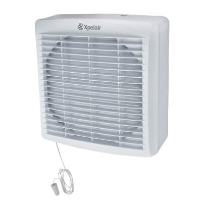 Xpelair GXC6 6 Inch Axial Extractor Fan with Pullcord)