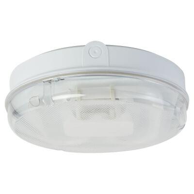 28W 2D Screw Drum Bulkhead Light - IP65 - White Prismatic)